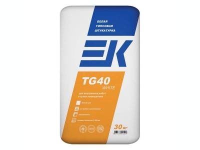 ЕК TG40 WHITE белая гипсовая штукатурка
