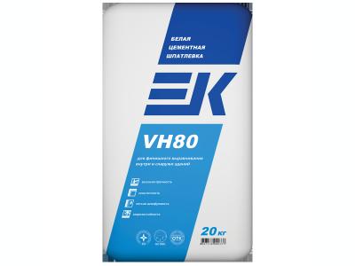 EK VH80 (20 кг) белая цементная шпатлевка