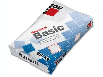 Baumit Baumacol Basic (25 кг) - Клей для укладки керамической облицовочной плитки, для внутренних и наружных работ