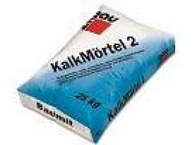 Baumit KalkMortel 2 mm (25 кг) - Известковая штукатурка крупнозернистая, 2мм + 5% цемент