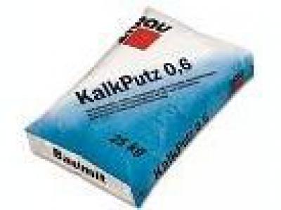 Baumit KalkPutz 0,6 mm (20 кг) - Известковая штукатурка мелкозернистая, 0,6 мм