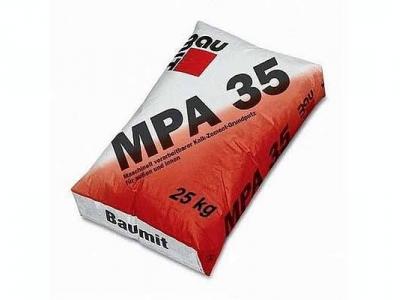 Baumit MPA 35 (25 кг) - Известково-цементная штукатурка машинного нанесения, 2 мм