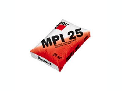 Baumit MPI 25 (25 кг) - Известково-цементная штукатурка для машинного нанесения для внутренних работ, 1 мм