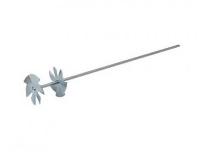 Мешалка для красок «звёздочка двойная» диаметр 75мм/ длинна 500мм/стержень Ø 8мм оцинкованая сталь
