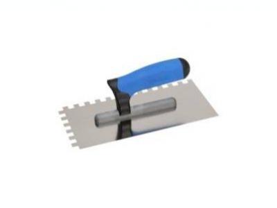 Нержавеющая тёрка 130x270 мм, зубчатая 12x12 мм, ручка G-11 двухкомпонентная профилированая