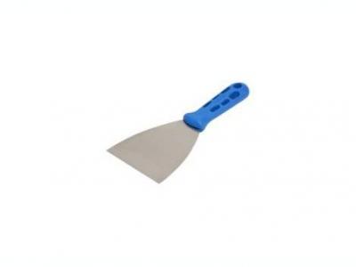 Нержавеющий шпатель 100мм пластиковая ручка