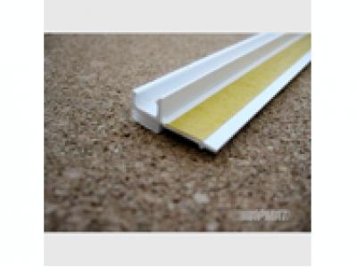 Профиль ПВХ  примыкания оконный самоклеющийся 6 мм (без сетки) 2,4 м.п.