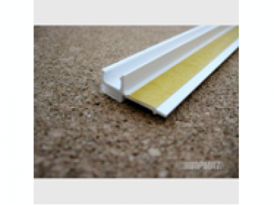 Профиль ПВХ примыкания оконный самоклеющийся 6 мм с сеткой, 2,4 м.п.