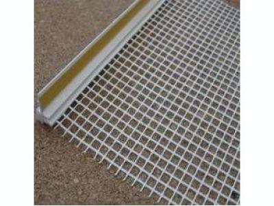 Профиль ПВХ примыкания оконный самоклеющийся 9 мм с сеткой, 2,4 м.п.