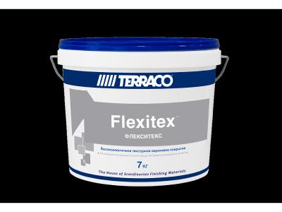 Terraco Flexitex - Высокоэластичное текстурное акриловое покрытие для фасадных и внутренних работ