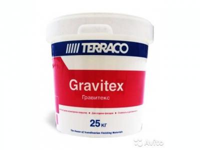 Terraco Gravitex - Фасадное текстурное покрытие на акриловой основе (25 кг)