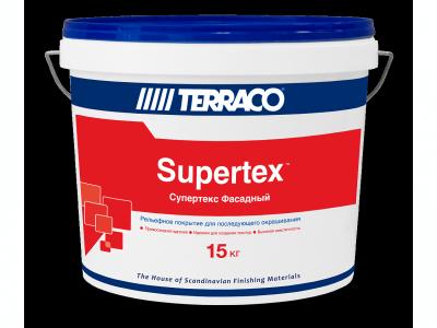 Terraco Supertex Фасадный (15 кг) - Текстурный слой для последующего окрашивания
