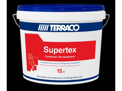 Terraco Supertex Интерьерный (15 кг) - Текстурный слой для последующего окрашивания для внутернних работ