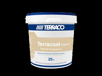 Terraco Terracoat Внутренний - Текстурное штукатурное покрытие на акриловой основе для внутренних работ (15 кг)