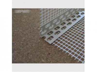 Уголок ПВХ с сеткой 7х7 см, 3,0 м.п.