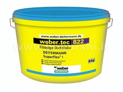 Weber Tec 822 - Гидроизоляционная полужидкая мастика, готовая к употреблению