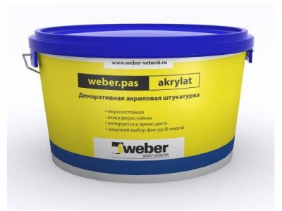 Weber.pas akrylat (25кг) - Декоративная акриловая штукатурка