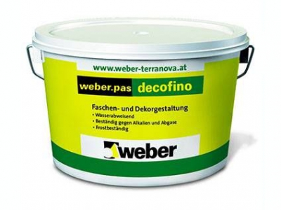 Weber.pas decofino 1 mm (шуба) (25 кг) -Декоративная силикатно-силиконовая штукатурка c размером зерна 1,0 мм