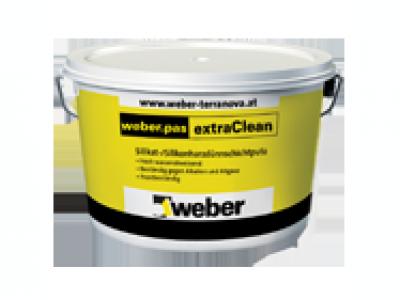 Weber.pas ExtraClean (25 кг) - Декоративная силикатно-силиконовая штукатурка для отделки поверхностей в системах фасадного утепления Weber