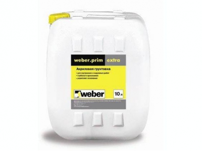 Weber.prim extra - Укрепляющая грунтовка глубокого проникновения для внутренних и наружных работ