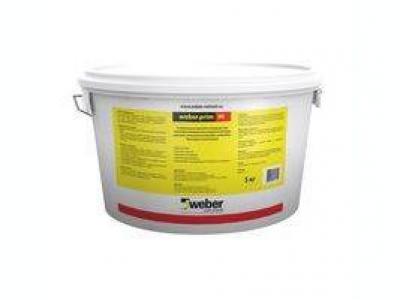 Weber.prim in (5 кг) - Универсальная грунтовка-концентрат для подготовки поверхности перед окраской воднодисперсионными красками внутри и снаружи помещений, нанесением штукатурок, шпаклевок