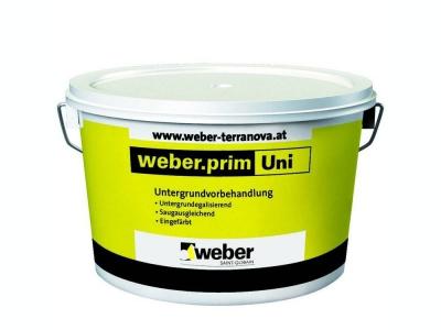 Weber.prim uni (25 кг) - Фасадная грунтовка для подготовки поверхности под декоративные штукатурки