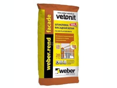 Weber.rend facade (20кг) - Цементная фасадная шпаклевка.
