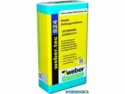 Weber.tec 824 (20 кг) - Эластичный, однокомпонентный гидроизоляционный раствор