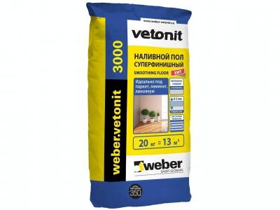 Weber.vetonit 3000 (20 кг) - Наливной пол, финишный