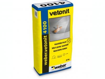 Weber.vetonit 4100 (25 кг) - Наливной пол. Самовыравнивающийся