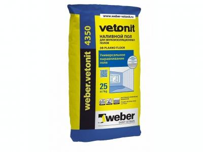 Weber.vetonit 4350 (25 кг) - Наливной пол. Для звукоизоляционных полов