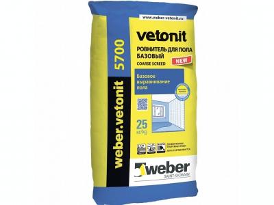 Weber.vetonit 5700 (25 кг) - Ровнитель для пола. Базовый