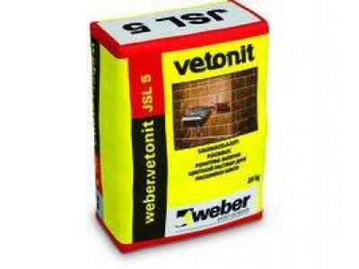Weber.vetonit JSL 5 (25 кг) - Цветной раствор для расшивки швов кирпичных конструкций.