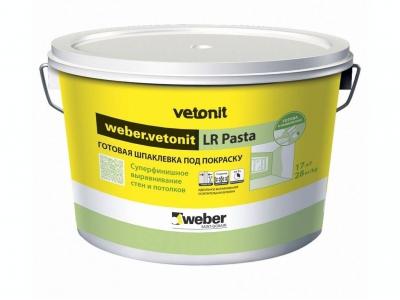 Weber.vetonit LR Pasta - Готовая шпаклевка под покраску