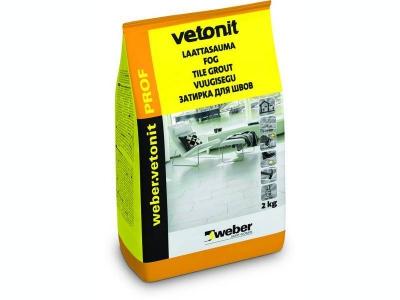 Weber.vetonit prof  - Цветная затирка для межплиточных швов 3-20 мм