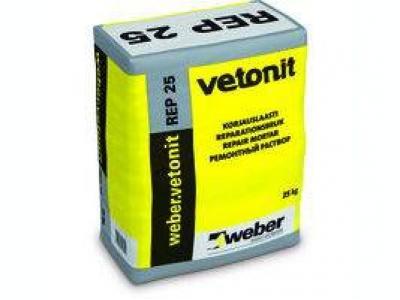 Weber.vetonit REP 25 (25 кг) - Модифицированный полимерами цементный раствор