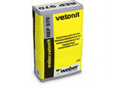 Weber.vetonit REP 970 - Цементная шпаклевка, модифицированная полимерами