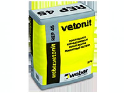 Weber.vetonit REР 45 - Модифицированный полимерами цементный раствор