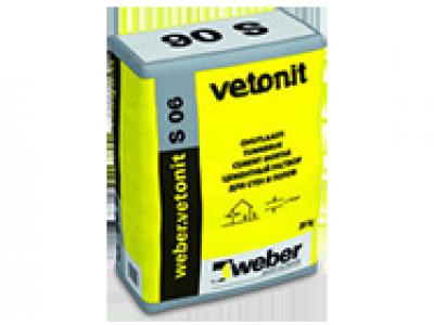 Weber.vetonit S 06 (25 кг) - Морозостойкий сухой раствор для выравнивания и ремонта бетонных стен, потолков и полов снаружи и внутри помещений
