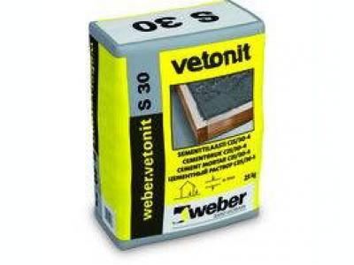 Weber.vetonit S30 (25 кг) - Цементный раствор для выполнения заливок